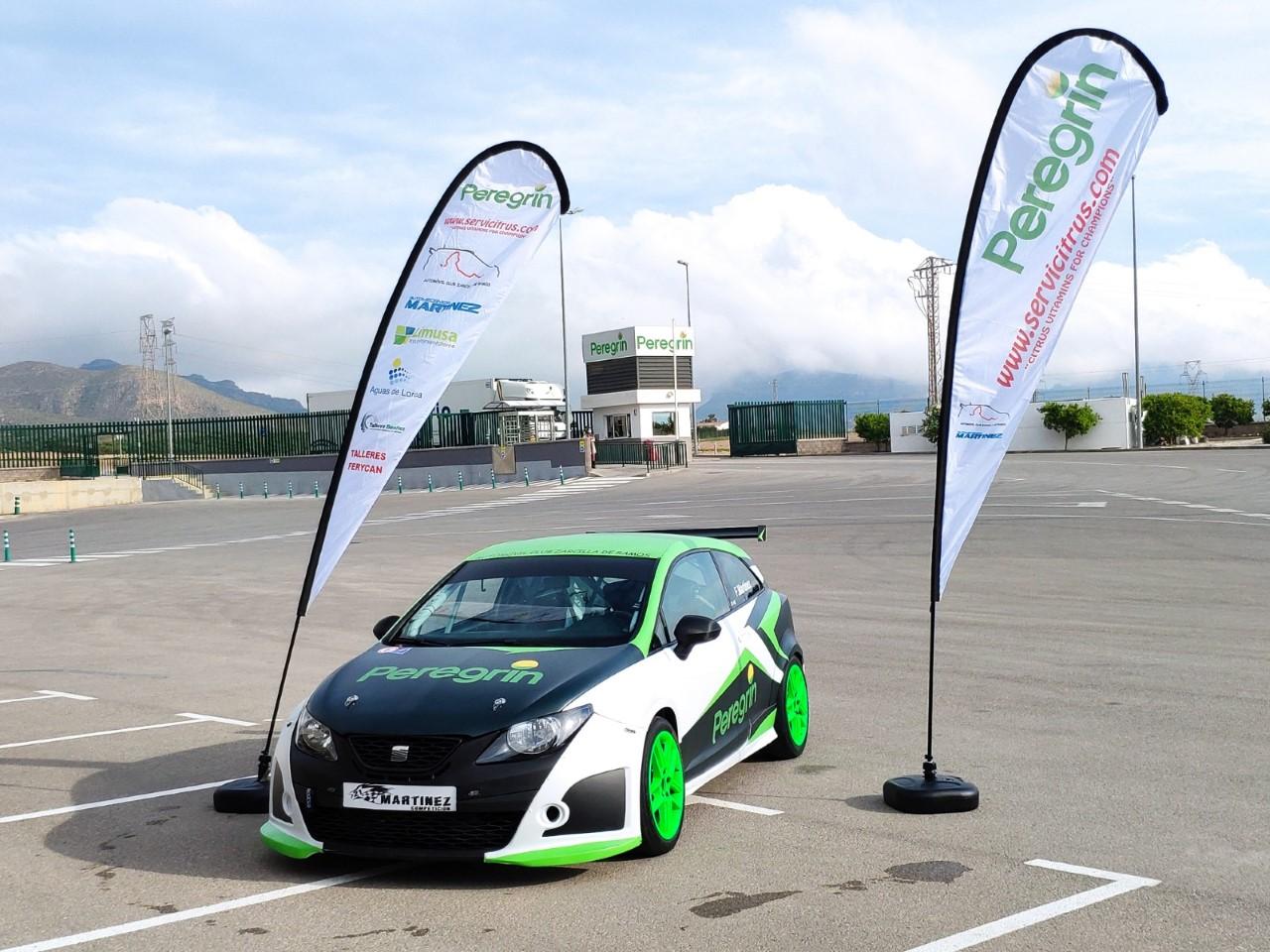 Presentación coche oficial de rally patrocinado por Peregrín